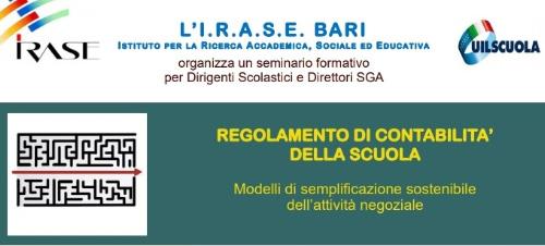 IRASE Bari: Il regolamento di contabilità della scuola