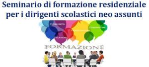 Seminario di formazione residenziale per i dirigenti scolastici neo assunti
