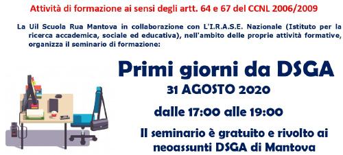 """SEMINARIO DI FORMAZIONE: """"PRIMI GIORNI DA DSGA"""""""