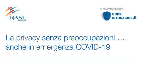 """Webinar gratuito: """"La privacy senza preoccupazioni … anche in emergenza COVID-19"""""""