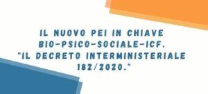 Webinar IL NUOVO PEI IN CHIAVE BIO-PSICO-SOCIALE
