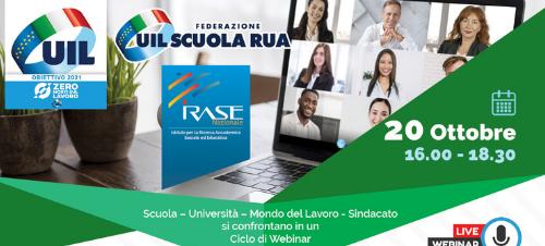 Read more about the article Orienta Ottobre – Webinar UIL e UIL scuola con IRASE Nazionale- 20/10/2021